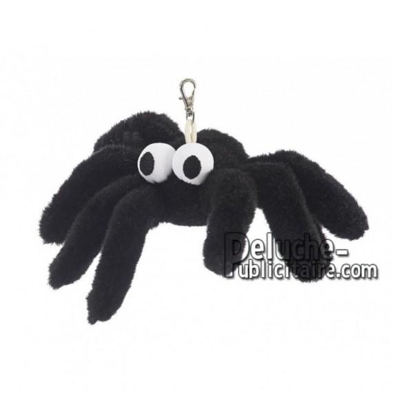 Achat porte-clés araignée noir 18cm. Peluche personnalisée.