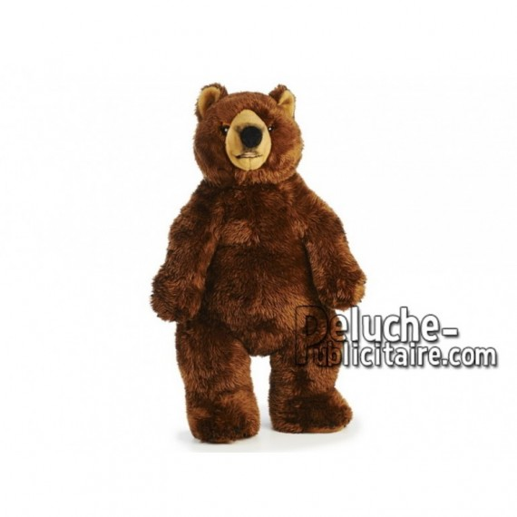 Achat peluche grizzly marron 60cm. Peluche personnalisée.
