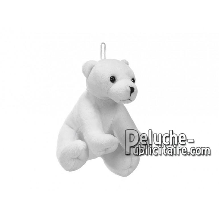 Achat peluche ours polaire blanc 11cm. Peluche personnalisée.