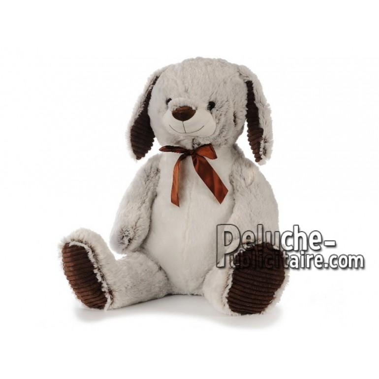Achat peluche lapin gris 80cm. Peluche personnalisée.