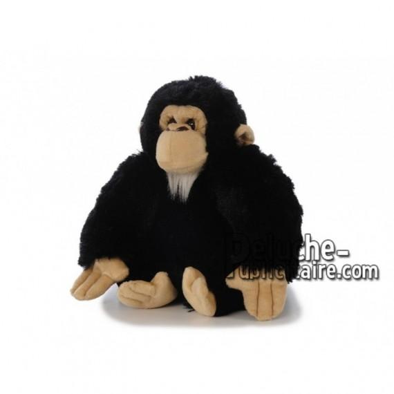 Achat peluche chimpanzé noir 23cm. Peluche personnalisée.