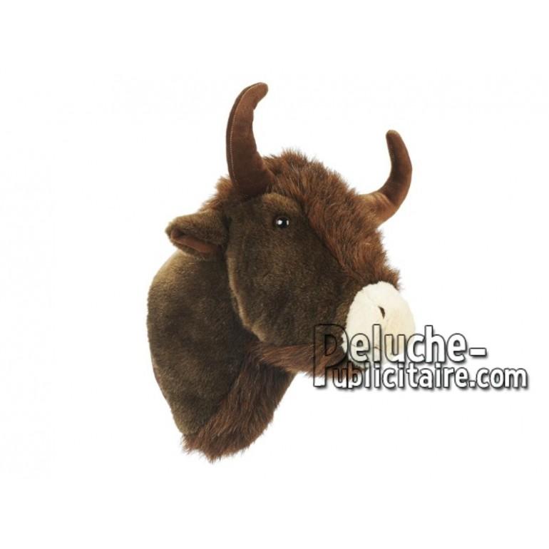 Achat peluche bison marron 50cm. Peluche personnalisée.