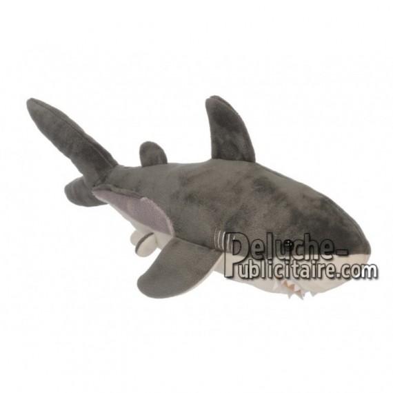 Achat peluche requin multicolore 45cm. Peluche personnalisée.