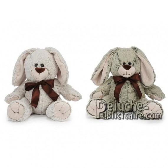 Achat peluche lapin gris 35cm. Peluche personnalisée.