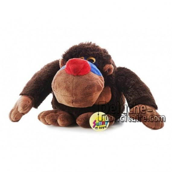 Achat peluche singe mandrill marron 20cm. Peluche personnalisée.