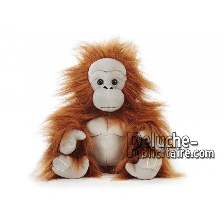 Achat peluche orang-outan gris 30cm. Peluche personnalisée.