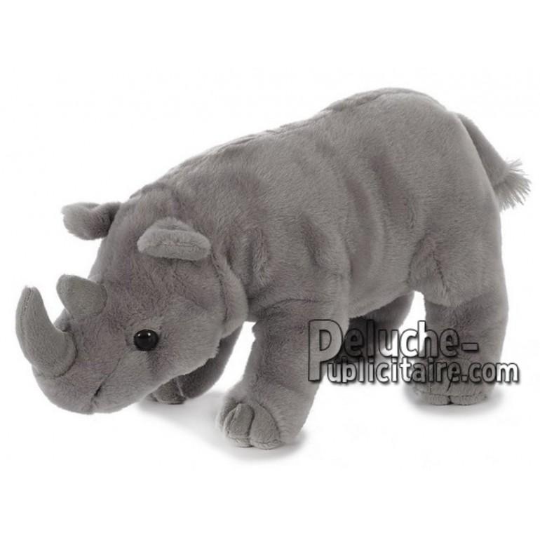 Achat peluche rhinocéris gris 26cm. Peluche personnalisée.