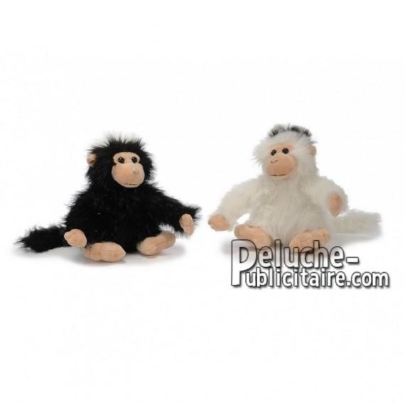 Achat peluche singe assis blanc 22cm. Peluche personnalisée.