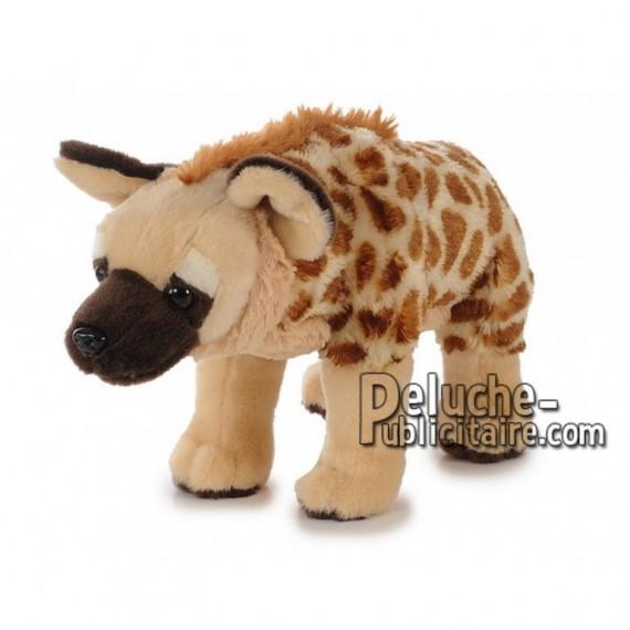 Achat peluche hyène marron 35cm. Peluche personnalisée.
