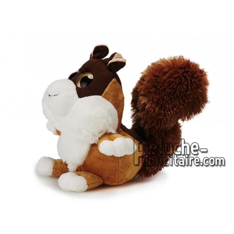 Achat peluche écureuil marron 18cm. Peluche personnalisée.