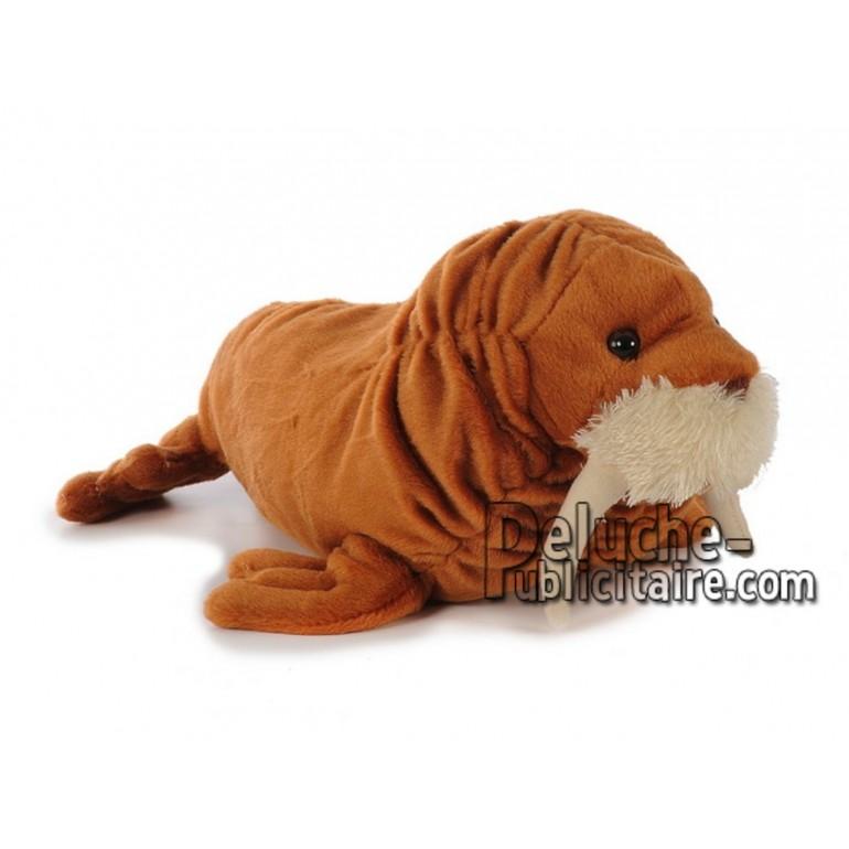 Achat peluche lion de mer marron 35cm. Peluche personnalisée.