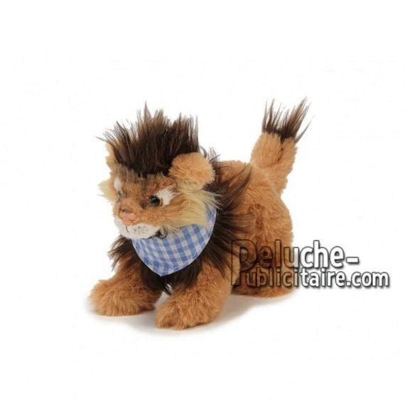 Achat peluche lion avec foulard marron 18cm. Peluche personnalisée.