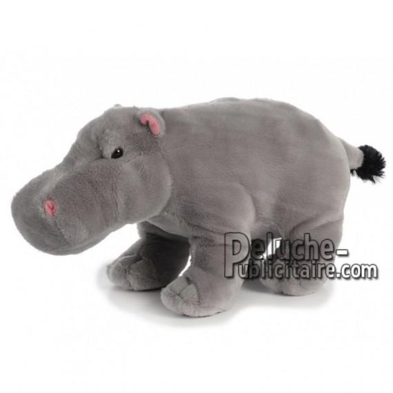 Achat peluche hippopotame gris 32cm. Peluche personnalisée.