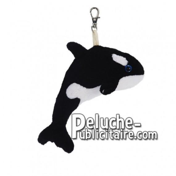 Achat peluche baleine blanc 10cm. Peluche personnalisée.