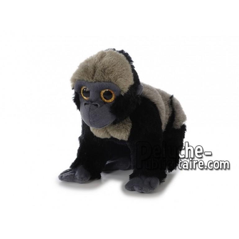 Achat peluche gorille noir 25cm. Peluche personnalisée.
