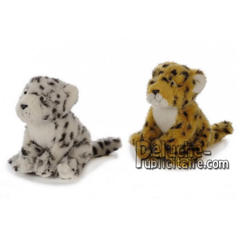 Achat peluche léopard multicolore 23cm. Peluche personnalisée.