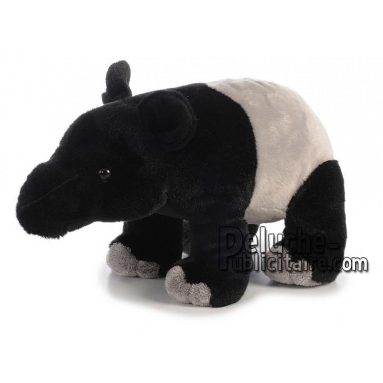 Achat peluche tapir noir 30cm. Peluche personnalisée.