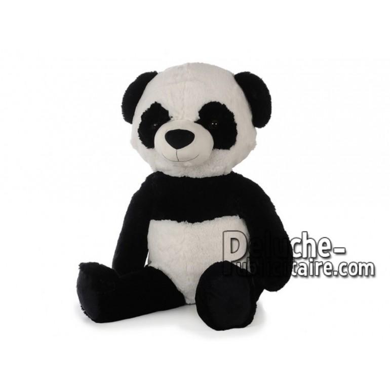 Achat peluche panda noir 90cm. Peluche personnalisée.