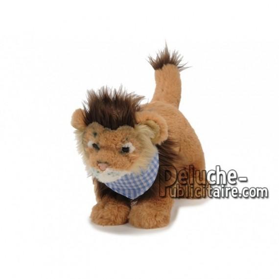 Achat peluche lion avec foulard marron 28cm. Peluche personnalisée.