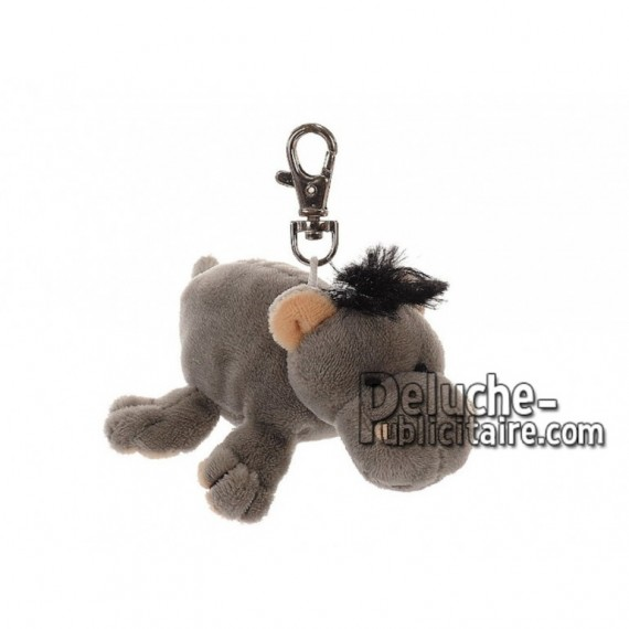 Achat porte-clés hippopotame multicolore 11cm. Peluche personnalisée.