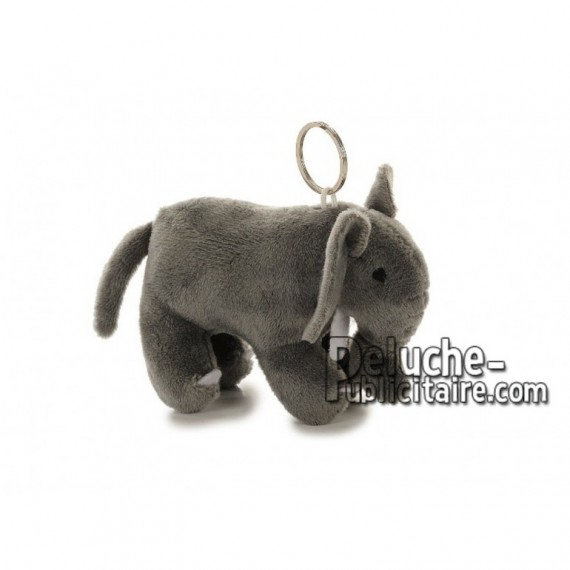 Achat porte-clés éléphant gris 10cm. Peluche personnalisée.