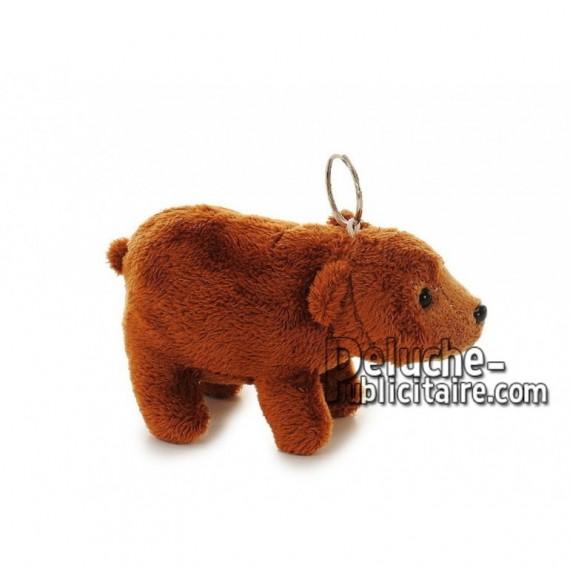 Achat porte-clés ours marron 12cm. Peluche personnalisée.