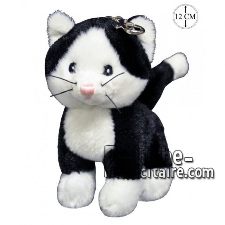 Achat porte-clés chat noir 12cm. Peluche personnalisée.