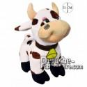 Achat peluche vache sur pattes blanc 31cm. Peluche personnalisée.
