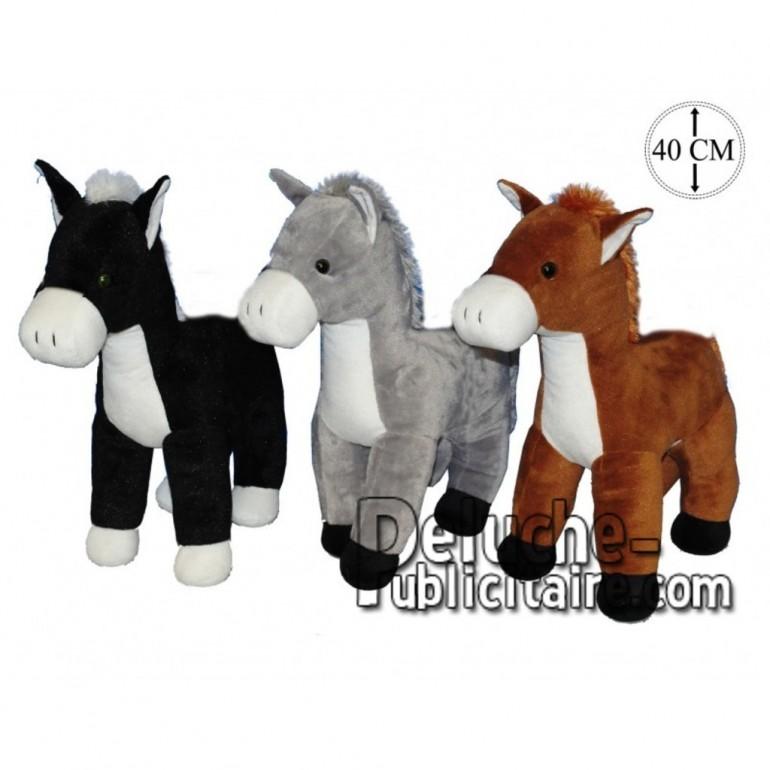 Achat peluche chevaux sur pattes multicolore 40cm. Peluche personnalisée.