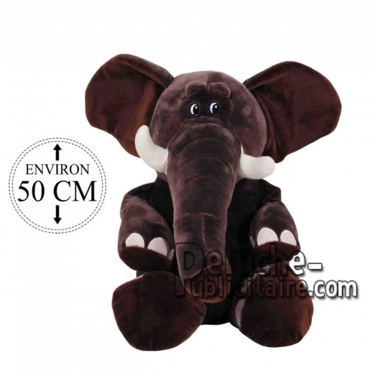 Achat peluche éléphant gris 50cm. Peluche personnalisée.