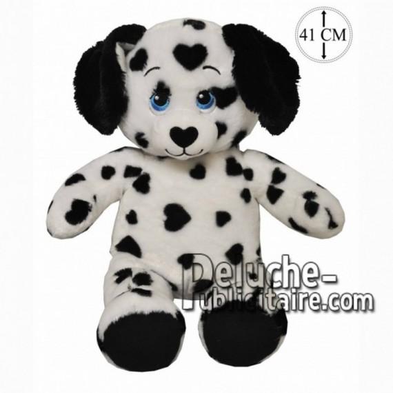 Achat peluche chien dalmatien noir 41cm. Peluche personnalisée.