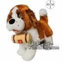 Achat peluche chien st bernard sur pattes marron 30cm. Peluche personnalisée.