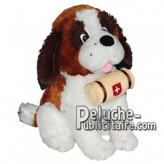 Achat peluche chien st bernard assis marron 25cm. Peluche personnalisée.