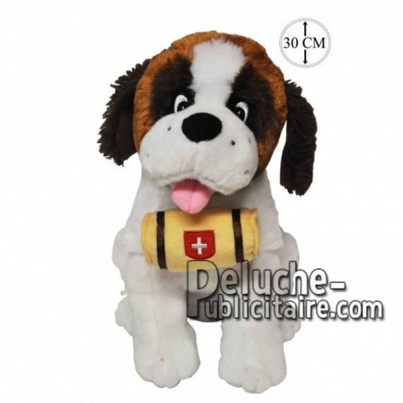 Achat peluche chien st bernard assis marron 30cm. Peluche personnalisée.