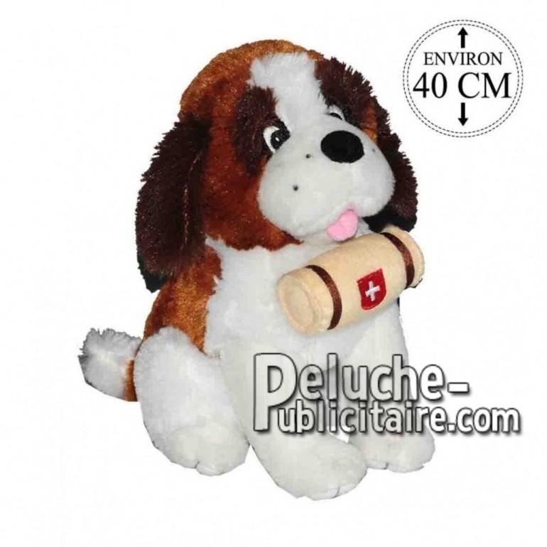 Achat peluche chien st bernard assis marron 40cm. Peluche personnalisée.