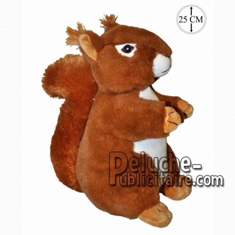 Achat peluche écureuil assis marron 25cm. Peluche personnalisée.