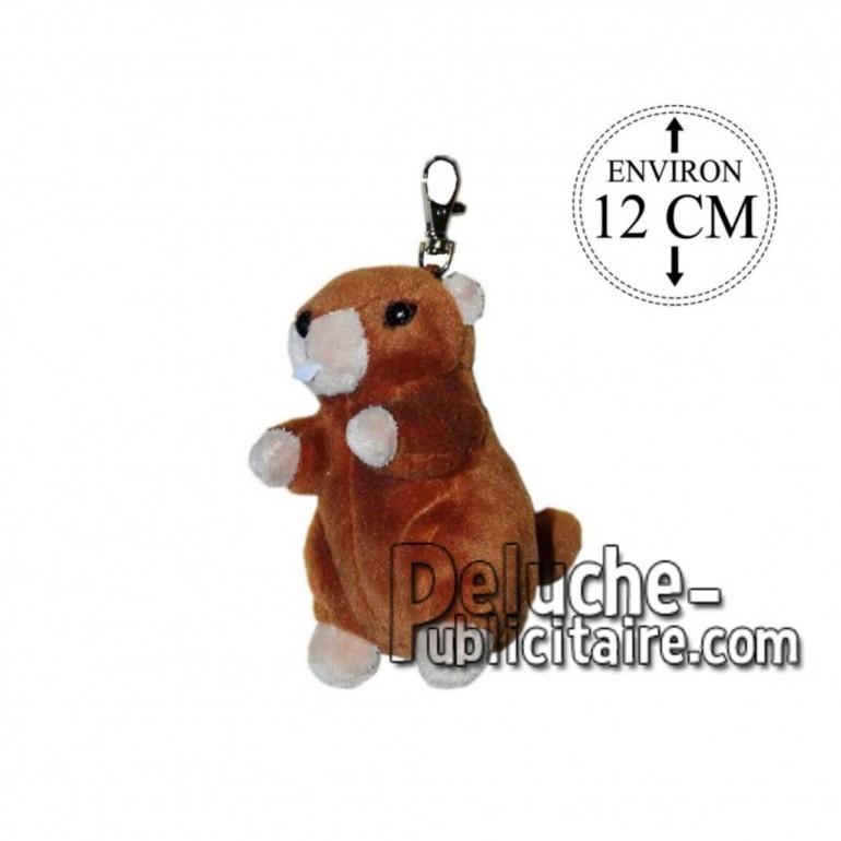 Achat porte-clés marmotte marron 12cm. Peluche personnalisée.