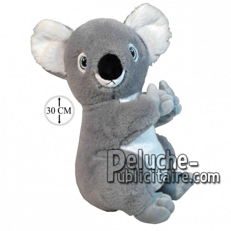 Achat peluche koala gris 30cm. Peluche personnalisée.