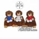 Achat peluche marmottes avec écharpe marron 20cm. Peluche personnalisée.