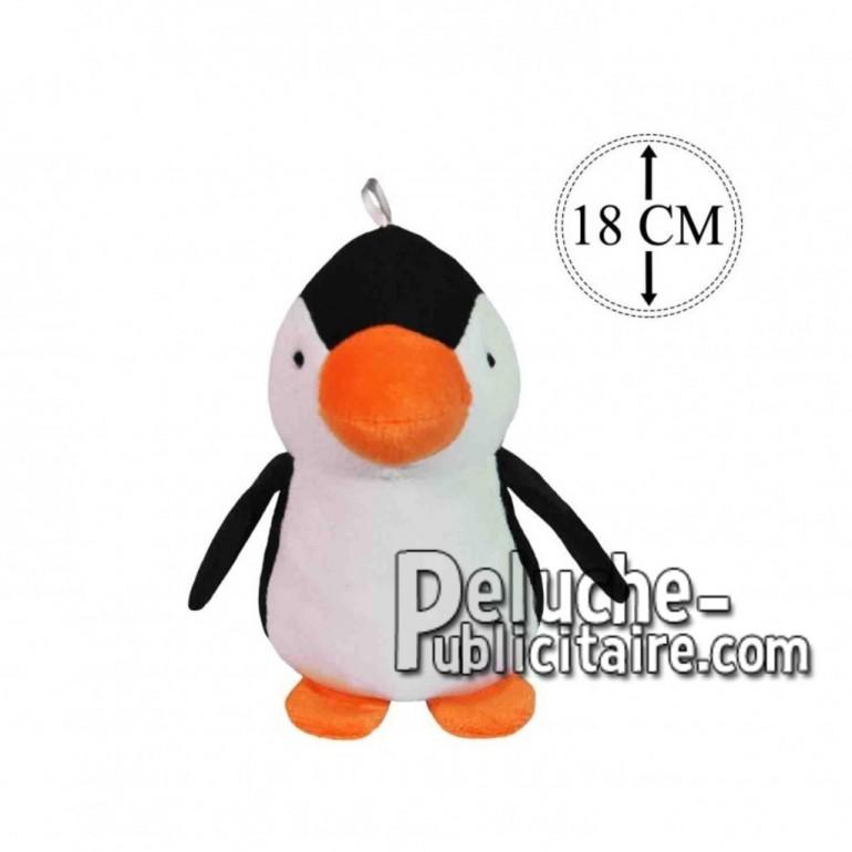 Achat peluche pingouin noir 18cm. Peluche personnalisée.