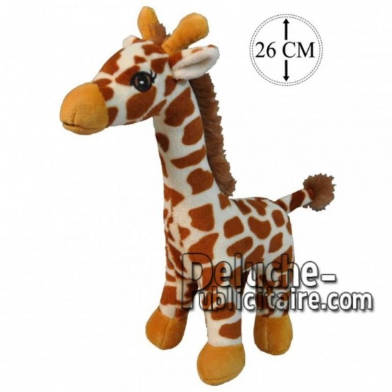 Achat peluche girafe marron 26cm. Peluche personnalisée.
