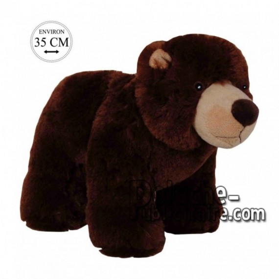Achat peluche ours sur pattes marron 35cm. Peluche personnalisée.