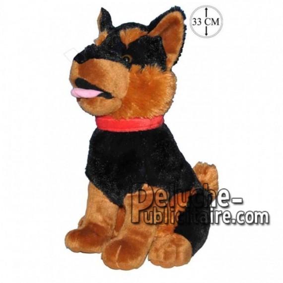 Achat peluche chien loup assis marron 33cm. Peluche personnalisée.