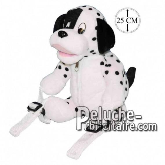 Achat sac à dos chien dalmatien noir 25cm. Peluche personnalisée.