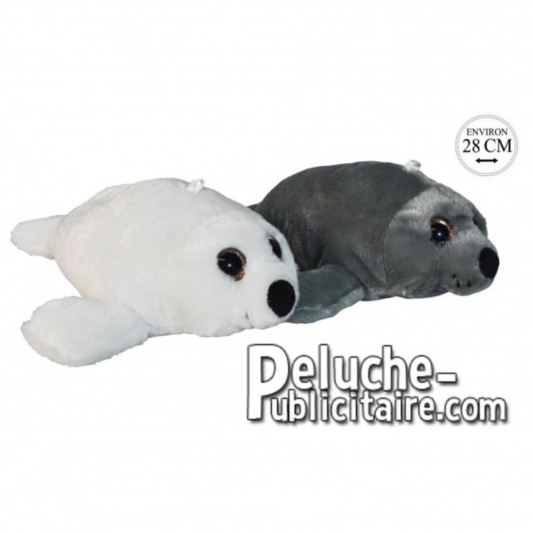 Achat peluche phoques gris 28cm. Peluche personnalisée.