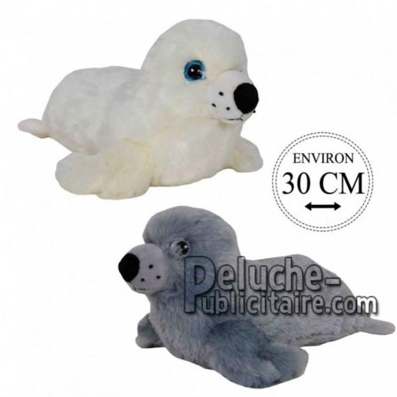 Achat peluche phoques gris 30cm. Peluche personnalisée.
