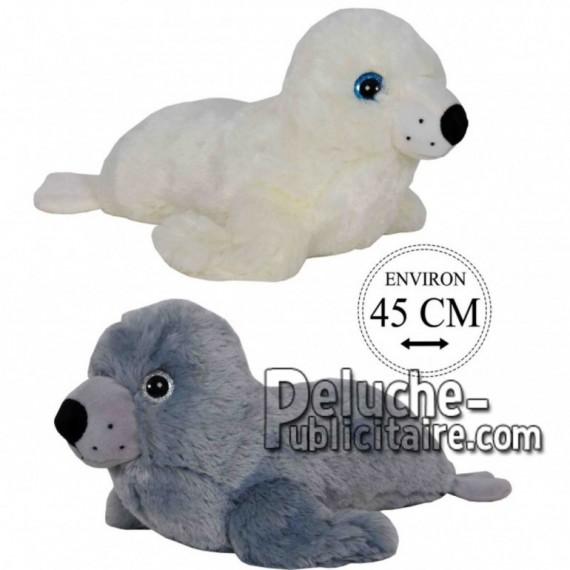 Achat peluche phoques gris 45cm. Peluche personnalisée.