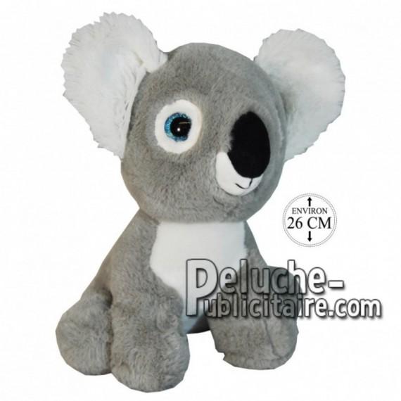 Achat peluche koala assis gris 26cm. Peluche personnalisée.