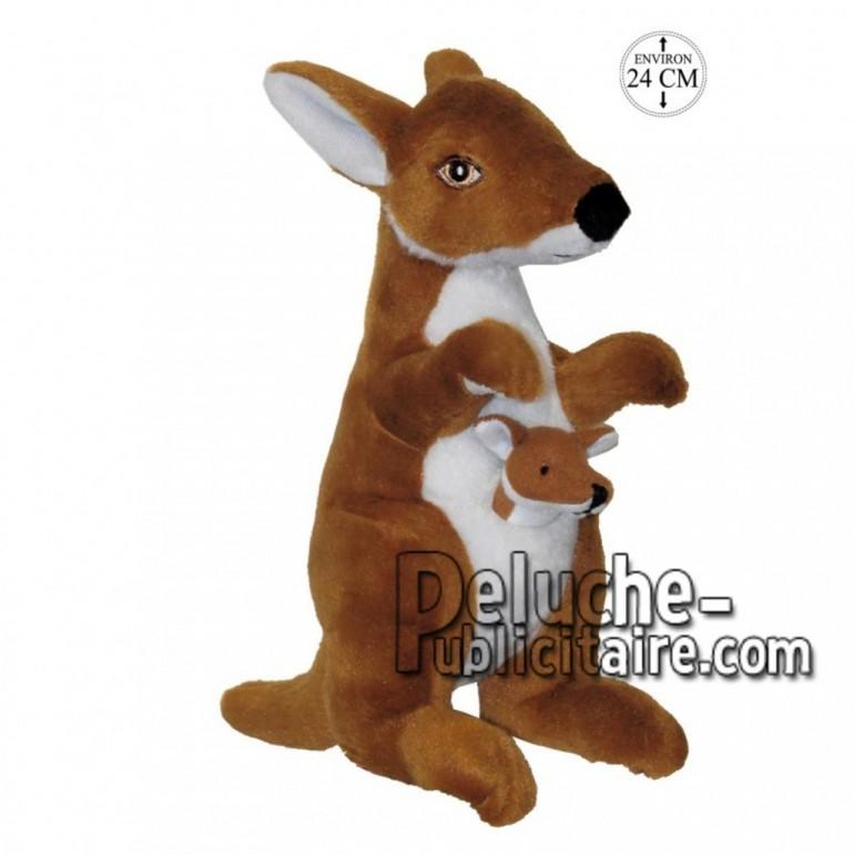 Achat peluche kangourou avec son petit marron 24cm. Peluche personnalisée.