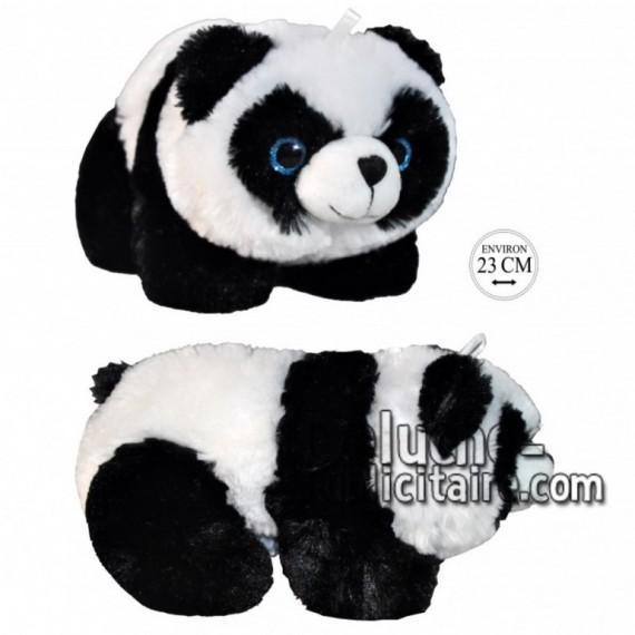 Achat peluche panda sur pattes noir 23cm. Peluche personnalisée.